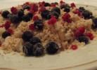 orez brun cu nuci, miere si fructe de padure