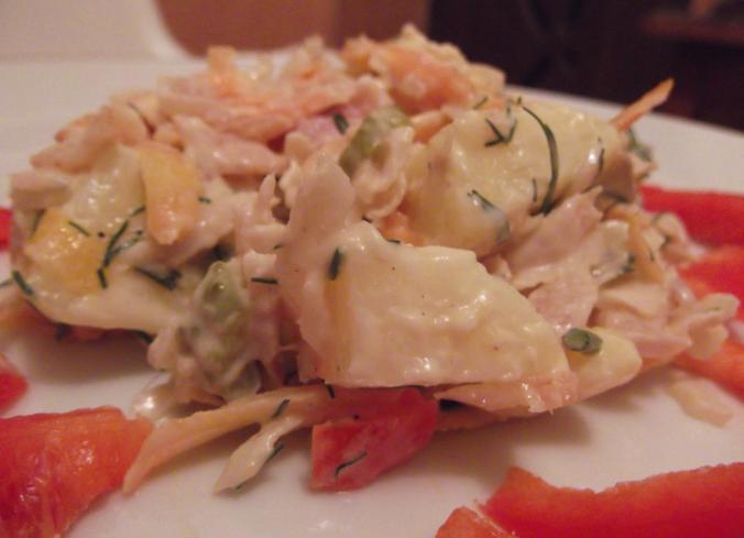 salata cu peste afumat