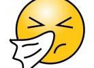 emoticon strănut în șervețel răceală și gripă