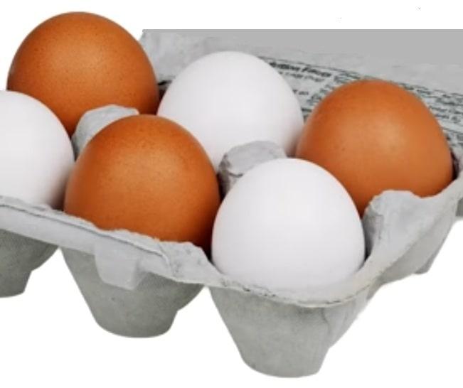 ouă albe și ouă roșii
