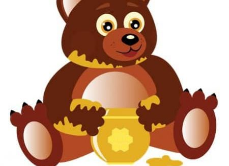 urs mănâncă miere
