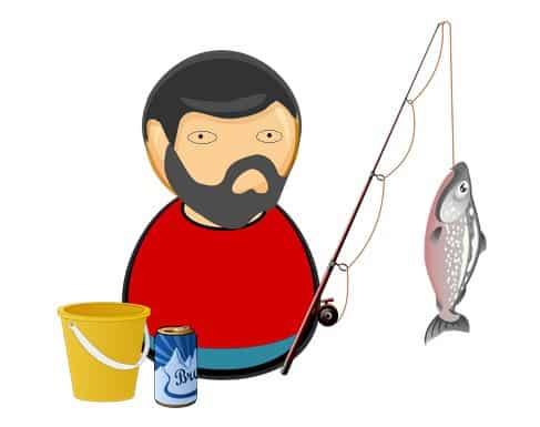 pescar cu un peste in undita